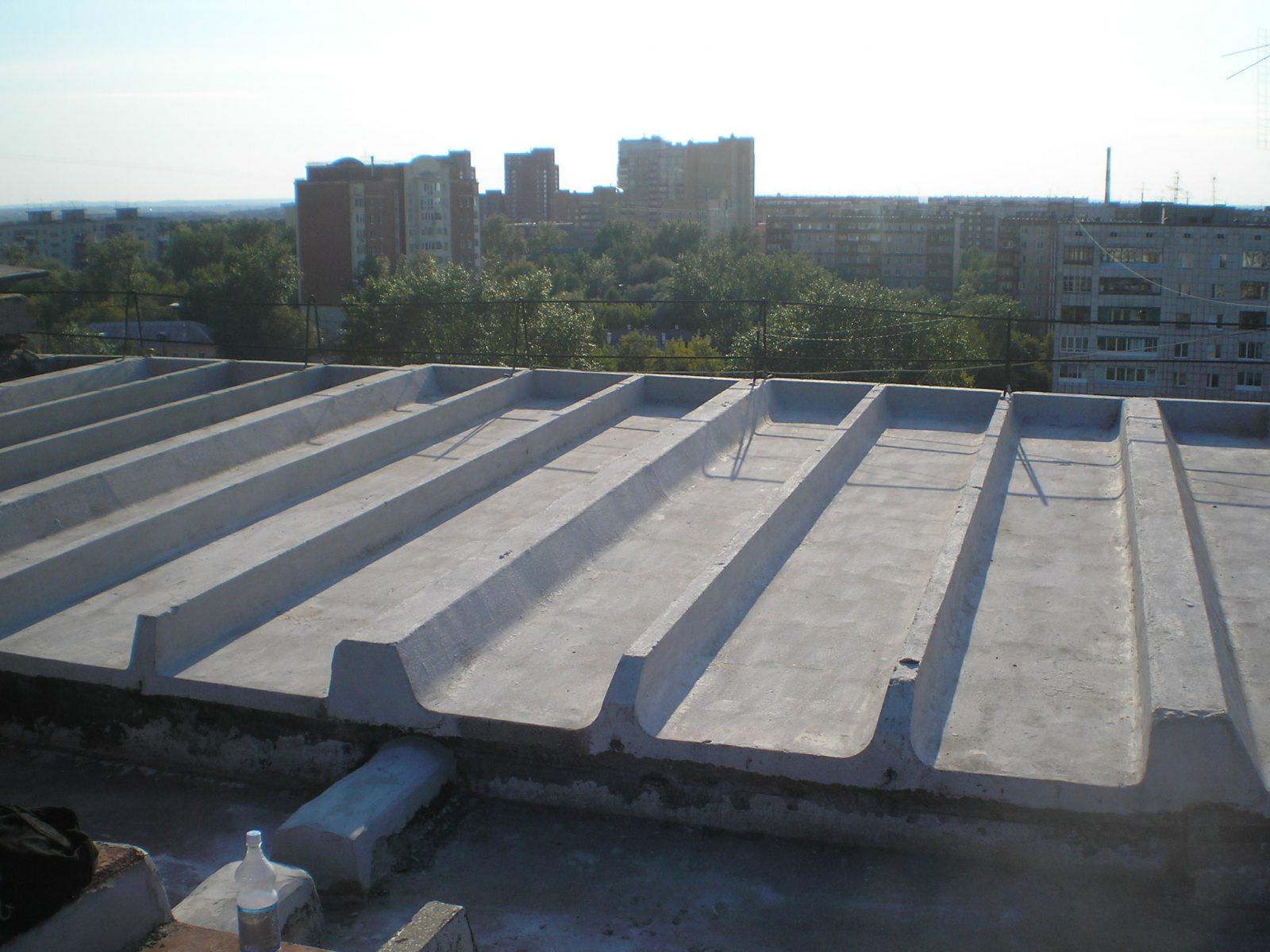 Крыша, обработанная смесью Гидроизол-ИТХ